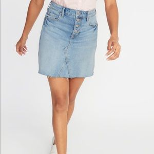 Old Navy High Waisted Button-Fly Denim Skirt